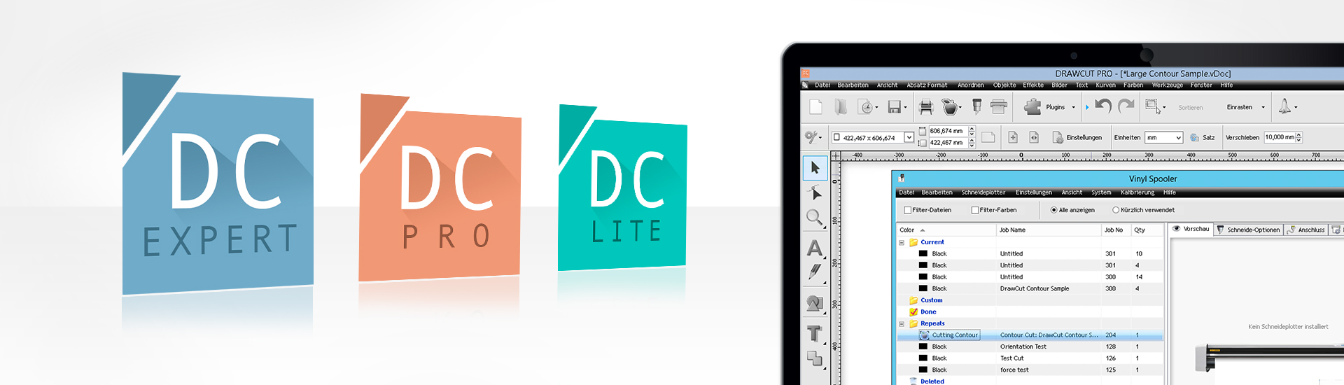 DrawCut LITE, PRO and EXPERT Cutting Software